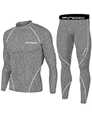 1Bests Men's Sports Running Set Compression Shirt + Pants Skin-Tight Long Sleeves Quick Dry Fitness Tracksuit Gym Yoga Suits