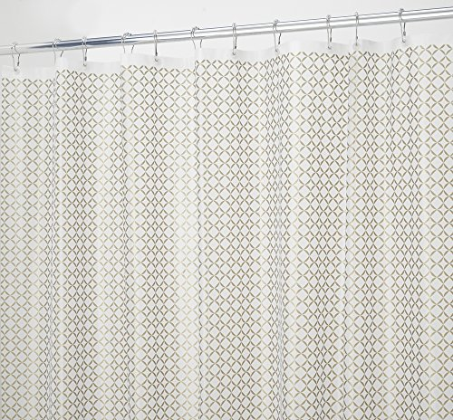 mDesign Decorative PEVA 3G Shower Curtain Liner, MOLD & MILDEW RESISTANT, ODORLESS, No Chemical Smell -Long 72