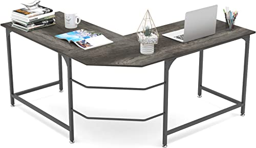 Elephance L Shaped Desk Corner Computer Desk Gaming Table Workstation
