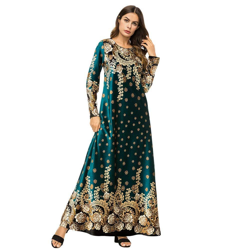 Meijunter Muslim Dress Women Velvet Long Sleeve Abaya Indian Robe Dubai Kaftan
