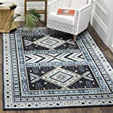 Safavieh Classic Vintage Collection CLV511A Navy and Light Blue Area Rug, 4' x 6'