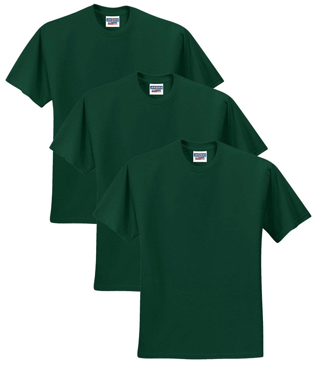 Jerzees メンズ 大人用 半袖Tシャツ(3枚組) B01CZYJXFQ M|フォレストグリーン フォレストグリーン M