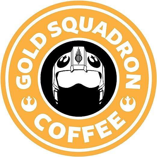 Star Wars Rogue One Gold Squadron Coffee Starbucks Logo Mens ...