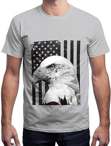 Camisetas Manga Corta Hombre Bandera Estados Unidos para El Verano Impresas Ocasionales con Cuello Redondo Suelto Tops: Amazon.es: Ropa y accesorios