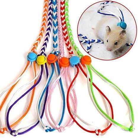 Hpybest - Cuerda de algodón Trenzado Ajustable para Viaje de hámster y tracción para cobayas, Cerdos, Mascotas, hámster: Amazon.es: Productos para mascotas