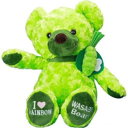 vobell verde oso de peluche Mostaza juguete de peluche bebé regalo calidad Stuffed Animal de peluche