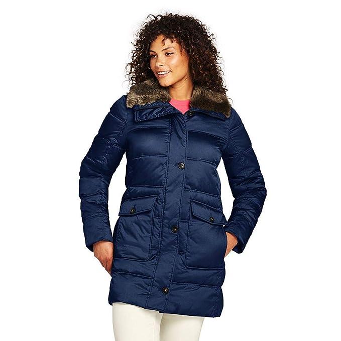 478f589b2e Lands  End Women s Plus Size Insulated Winter Puffer Parka Faux Fur ...