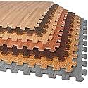 FOREST FLOOR 200 SQ FT Foam Printed Bamboo Wood Grain Interlocking Anti Fatigue Flooring Mats (50) 2'x2' tiles