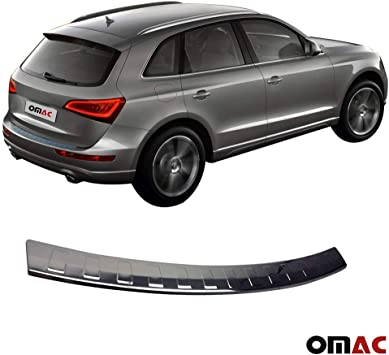 Stainless Steel Rear Bumper Protector Sill Plate Cover kit for 2009-2017 Audi Q5
