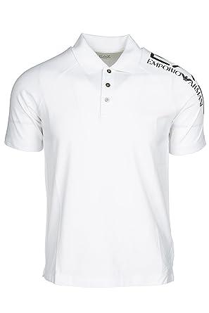 Emporio Armani EA7 t-Shirt Manches Courtes Col Polo Homme Blanc EU M (UK 38) 3ZPF56PJ03Z1100 ULcxK5xJ