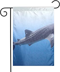 Pooizsdzzz Whale with White Pots Festival Garden Flag Front Door Flag Decorative Home Outdoor Flag 1218 Inch