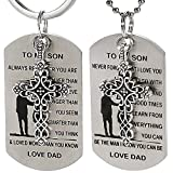 2Pcs Dog Tag Necklace/Keychain W/ To My Son - Best Reviews Guide