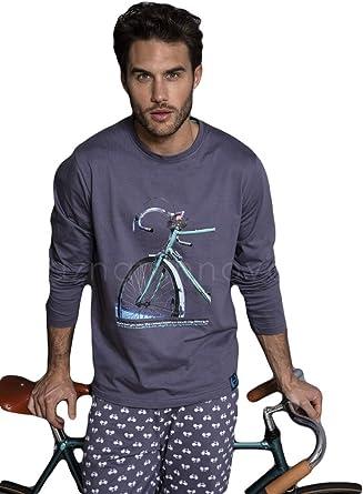 ANTONIO MIRO - Pijama Hombre Bicicleta Hombre Color: Azul Talla ...
