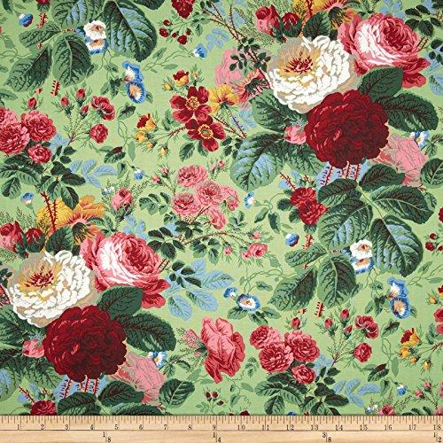 Fabric Rose Floral (FreeSpirit Fabrics Kaffe Fassett Collective Grandi Floral Natural Fabric By The Yard, Natural)