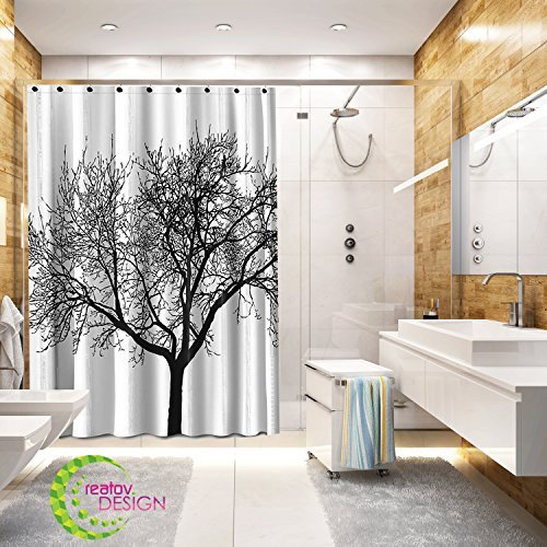 Brilliant Tree Shower Curtain Mildew Resistant 72X72 Tree Design Decor Waterproof Odorless Eco Friendly Anti Bacterial Bath Curtains Liner Decorative Fabric Download Free Architecture Designs Griteanizatbritishbridgeorg