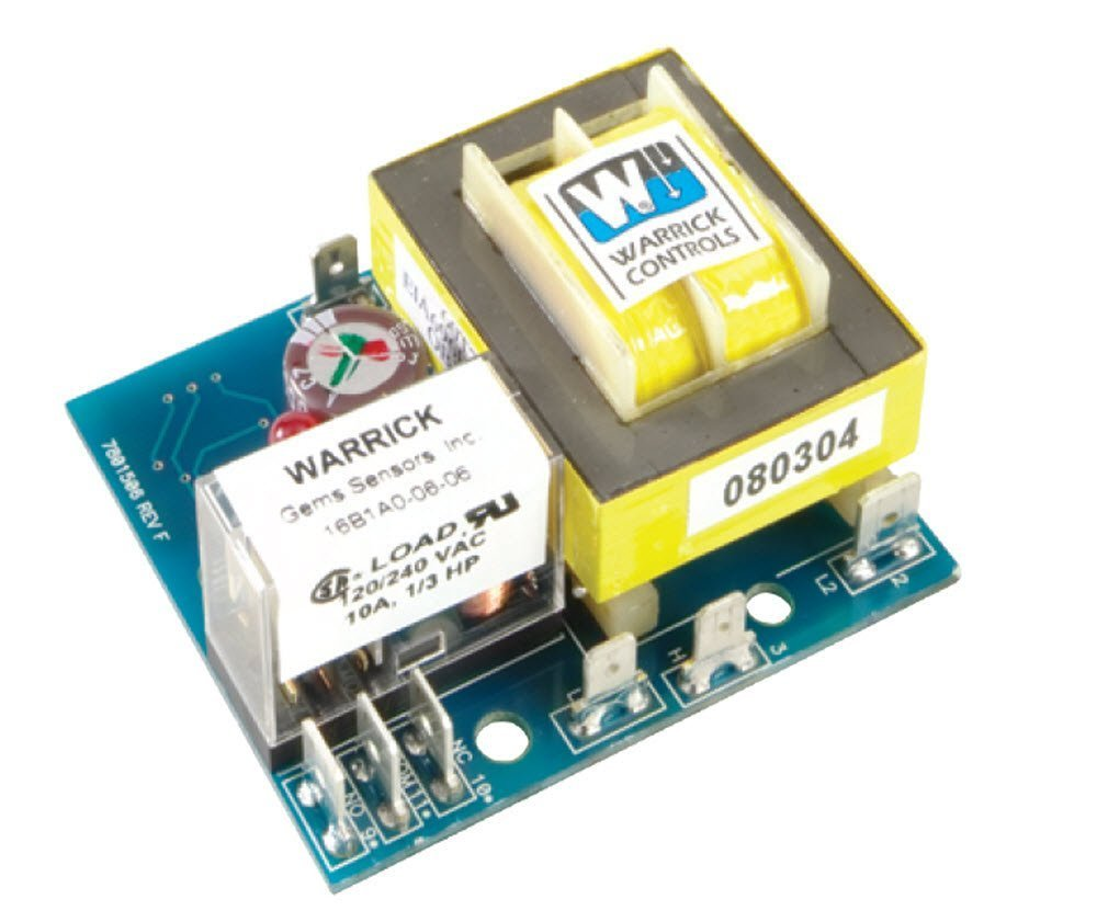 Warrick 16C1D0R General Purpose Open Circuit Board Control with Retrofit Standoff, 26K ohms Direct Sensitivity, 120 VAC Voltage, Retrofit Plate