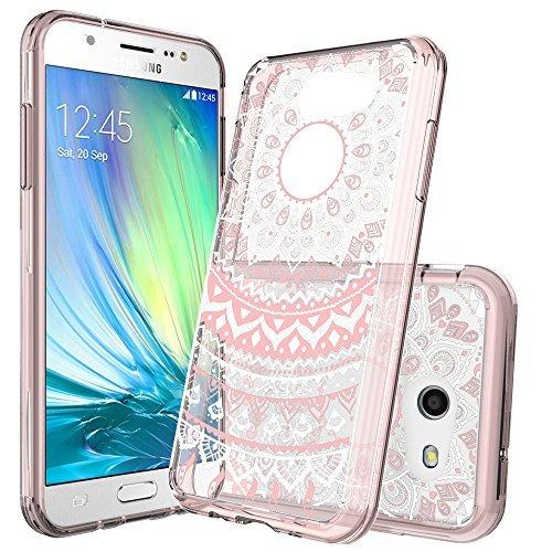 Galaxy J3 Emerge Case,J3 Eclipse Case,J3 Prime Case,J3 Mission Case,J3 2017/J3 Luna Pro/Sol 2/Amp Prime 2 Case Clear with Screen Protector,Anoke Slim Fit Phone Cover for Samsung J3 Emerge CH Rose Gold