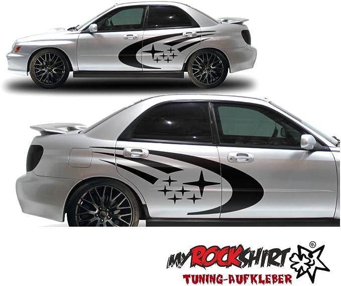 Myrockshirt Subaru Logo Xxl Mrs 236 Aufkleber Tuning Auto Autoaufkleber Freigestellt Bonus Testaufkleber Estrellina Glückstern Ax10 Montageanleitung Waschanlagenfest Profi Qualität Auto