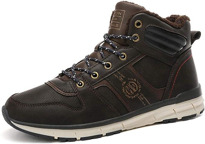 AZLLY Zapatos para Hombre de la Nieve Senderismo Resistente