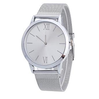 Reloj de pulsera con correa de malla de acero inoxidable ...
