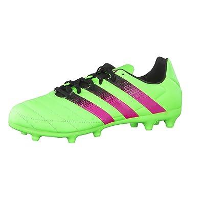 adidas Ace 16.3 FG/AG, Chaussures de Football Homme, Vert/Rose/Noir (Versol/Rosimp/Negbas), 40 EU