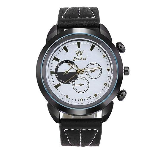 Reloj de Cuarzo ShiKai Creative Digital Large Dial para Hombres Negocios Ocio simpre Relojes Pulsera Hombre al Air Libre Reloj Iinteligente Deporte Redondo ...