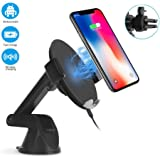 Amazon Com Magnetic Qi Wireless Car Charger Mount