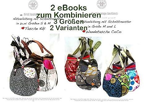 Kiki&Coco Nähanleitung mit Schnittmuster für Umhängetasche, 2 eBooks ...