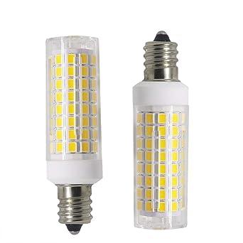 Bombilla LED E12 regulable de 80 W equivalente a luz diurna 6000 K e12 doble contacto