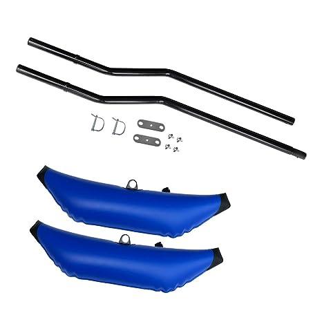 Perfeclan Flotadores de Equilibrio Estabilizadores Neumáticos con Soportes para Botes Inflables y Barcos Hinchables de Piragua Kayak Canoa Yate