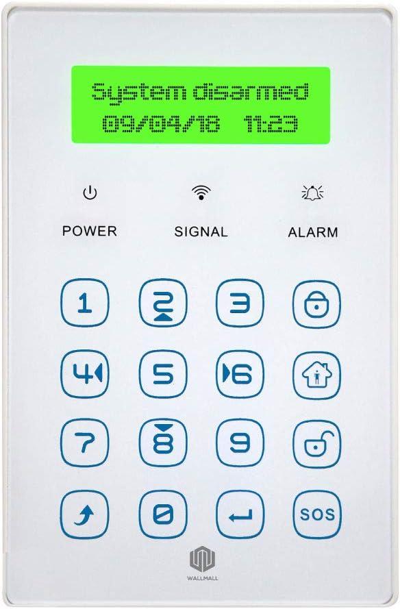 Teclado inalámbrico LCD Touch Monitor Estado Alarma Activa ...