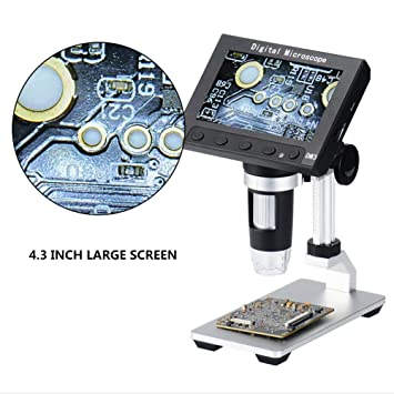 Caige Microscopio Digital, Microscopio Digital De 4,3 ...