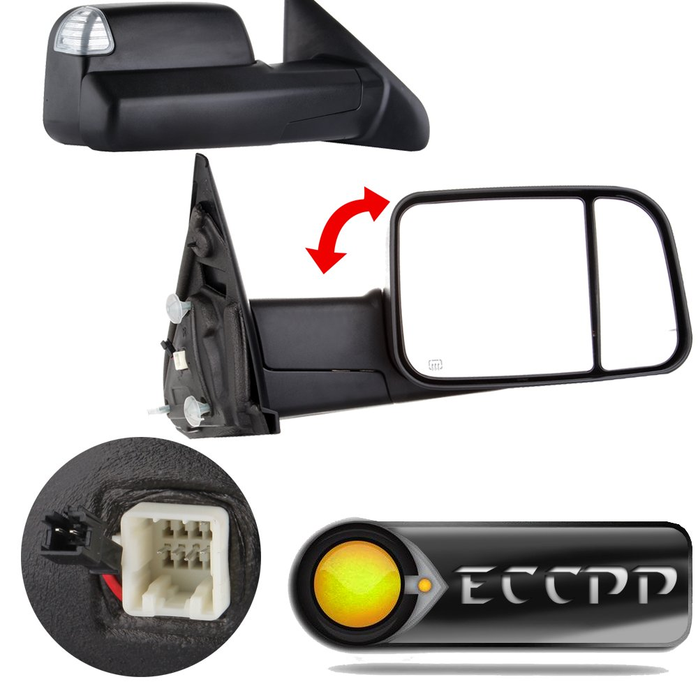 Eccpp Towing Mirrors For 2002 2008 Dodge Ram 1500 2500 3500 Power Heated Led Signal Lights Pair Automotive