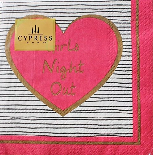 Cypress Home Cocktail Beverage Paper Napkins, BFF Girls Night Out, 40 ct