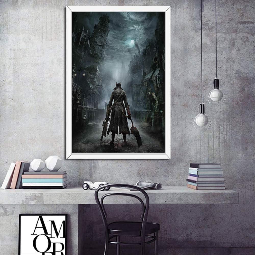 MZCYL Rompecabezas 1000 Piezas Ensamblar Imagen Juego Bloodborne Hunter Videojuego Caliente Arte Seda para Adultos Juegos Infantiles Juguetes Educativos MA4819