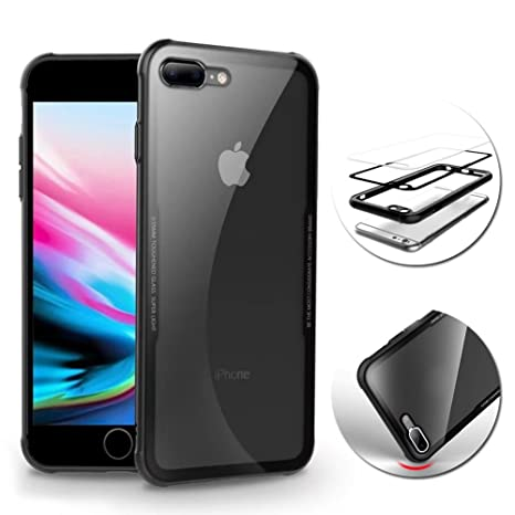custodia trasparente silicone vetro temperato iphone 8