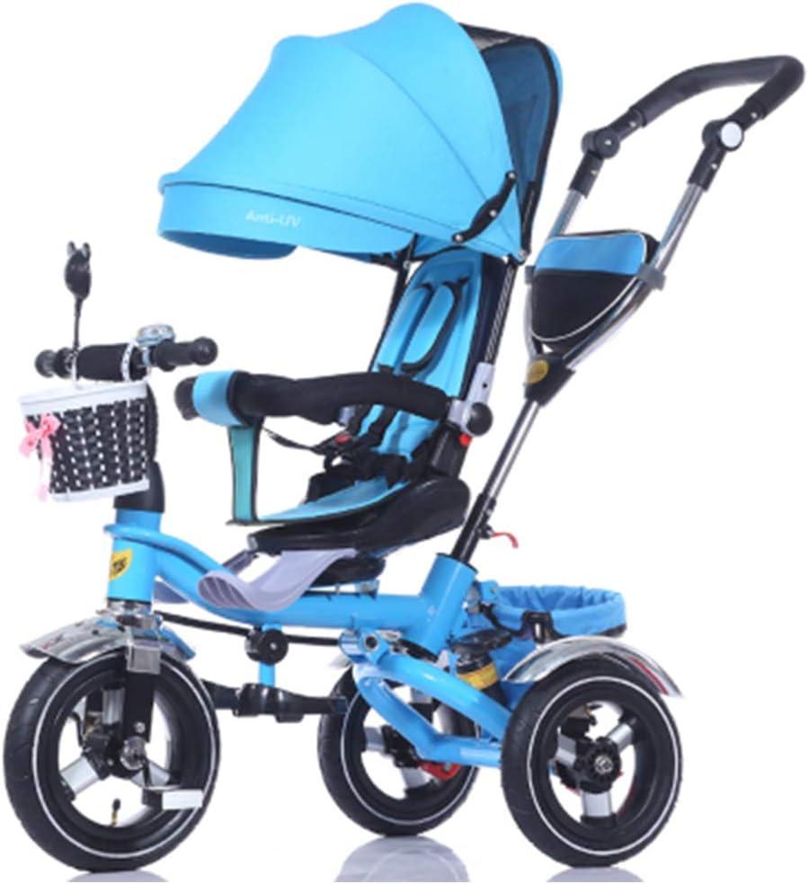 HBSC Triciclo Trike/Cochecito Infantil/Asiento Giratorio/Bicicleta Cochecito 1bicycle Regalo Blue