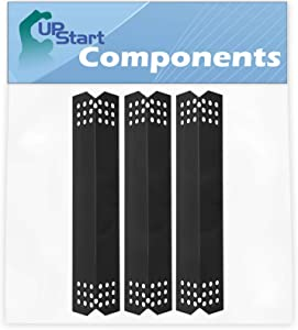 3-Pack BBQ Grill Heat Shield Plate Tent Replacement Parts for Sunbeam Grillmaster 720-0737 - Compatible Barbeque Porcelain Steel Flame Tamer, Guard, Deflector, Flavorizer Bar, Vaporizer Bar