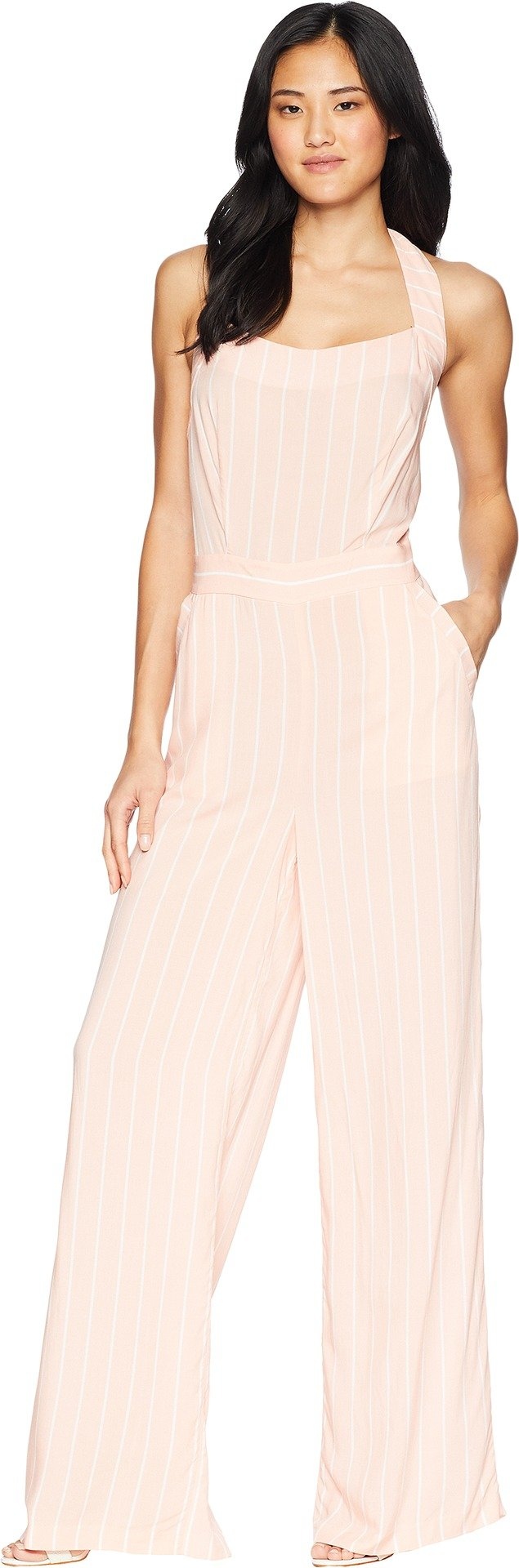 Juicy Couture Women's Cindy Stripe Jumpsuit Soft Pink Cindy Stripe 6 by Juicy Couture (Image #1)