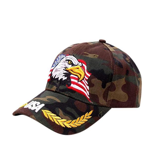 SamMoSon,2019 Hombre Mujer Sombreros Gorras Boinas Gorra de Béisbol Ocio Retro Gorra de Deport Gorro Plano Hat Flat Cap Sombrero de Sol al Aire Libre ...