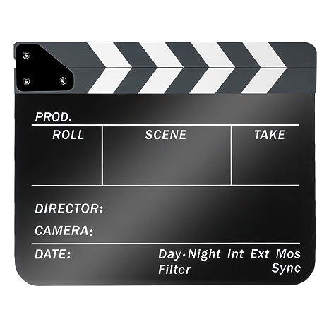 ciak cinematografico  Neewer - Ciak da regista cinematografico, in plastica acrilica 25 x ...