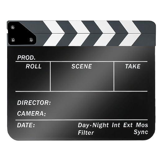 33 opinioni per Neewer- Ciak da regista cinematografico, in plastica acrilica 25x 30cm,