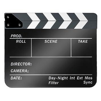 Neewer® acrílico plástico 10x12in/25x30cm tablilla de película Director cine, borrado en seco, Chapaleta Junta pizarra de parar Acción Escena con ...