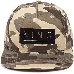 a82dc3b4bfc King Apparel Men s Manor Snapback Cap O S Camo