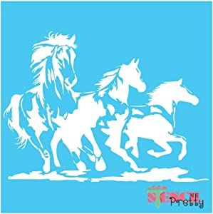 Wild Mustang Horse Stencil - DIY Bronco Best Vinyl Large Stencils for Painting on Wood, Canvas, Wall, etc.-M (17