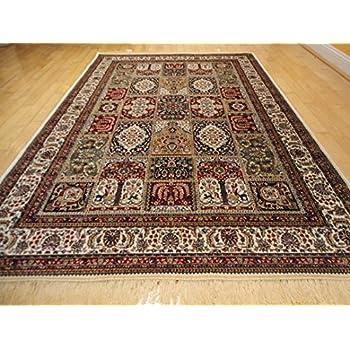 This Item Silk Traditional Turkish Design Rug 5x7 Rugs Silk 5x8 Rug Living  Room Area Rugs Ivory Luxury Carpet Red Ivory Green Area Rugs (Medium 5u0027x8u0027)