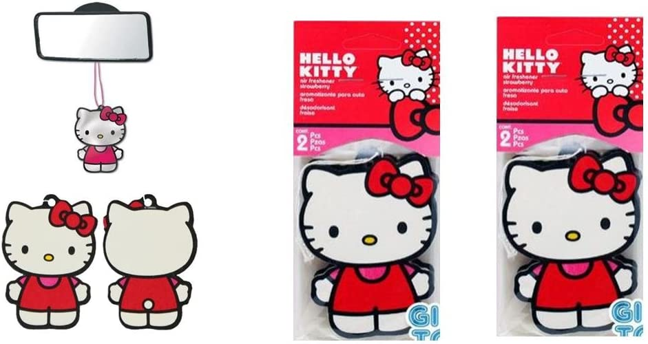 Hello Kitty Core Paper Air Freshener - Strawberry x 2 pack (4pc total)