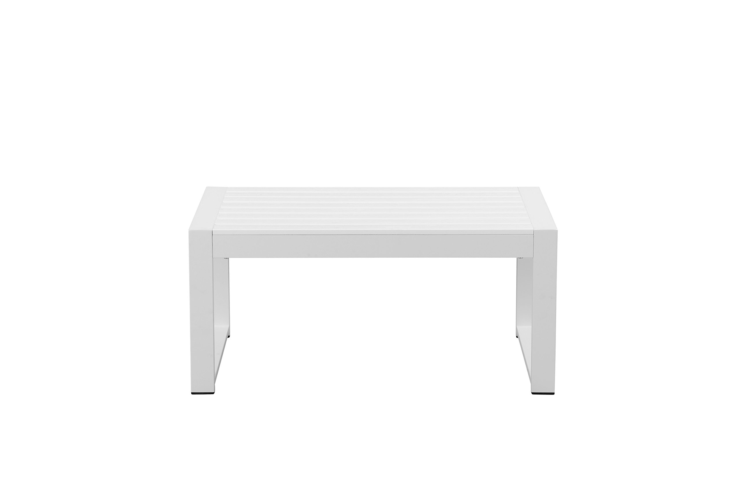 Pangea Home CT-WHT Chester Coffee Table, White Anodized Aluminum/Polyresin - Manufacturer: Pangea Home Material Type: aluminum Color NAME: White Anodized Aluminum/White Polyresin - patio-tables, patio-furniture, patio - 61MCyiZZicL -
