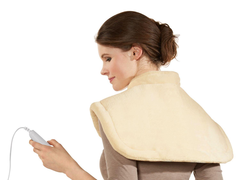 SSHK 100 B2 - Almohada eléctrica para hombros y cervicales (6 niveles de temperatura, talla única), color beige: Amazon.es: Salud y cuidado personal