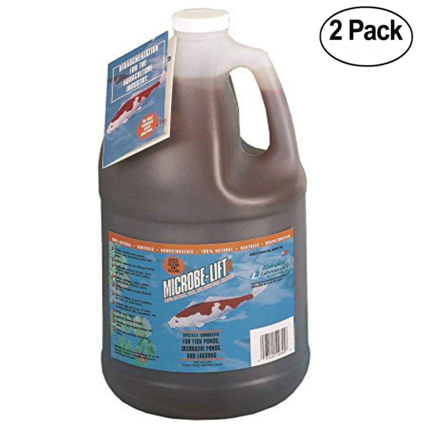 Eco Labs 971047 10PLG4 Microbe Lift PL Bacteria for Watergardens Gallon - 2 Pack